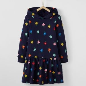 Hanna Andersson Blossom Hoodie Dress French Terry